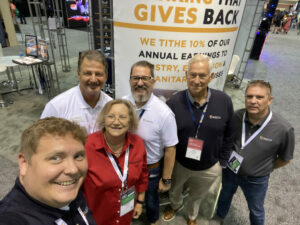 Bruce, Mark, Jim, Jeff, Janora and Todd are teaming up to represent the culture and heart of AGCU at GC21